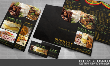 Dutch Pot Restaurant – Menu, Business Card and Flyers